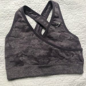 Gymshark Camo Seamless purple sports bra